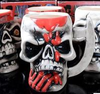Wholesale Sea Rover - Skeleton Skull Mugs Ceramic Personality Porcelain Cup The Vikings Sea Mug Rover Pirate Cups Semi Artificial Bone 8 5hf R