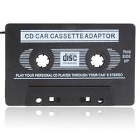 adaptadores jack venda por atacado-Adaptador de Fita Cassete para Carro Adaptador de Conversão de Áudio e Música para 3.5mm Jack para iPod / para iPhone / Smartphone / MP3 / CD Player CEC_809