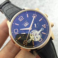 Wholesale Man Hand Watch Time - Time Luxury Brand Watches Men Leather Casual Watch Classic Relogio Masculino CLock Automatic Mechanical Hand-winding Watch Tourbillon Walker