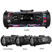 Wholesale Power Bass Portable Speaker - CH-M18 subwoofer 15W Big Power Wireless Bluetooth Speaker Portable Cool Graffiti Hip hop Style Adjustable Bass Outdoor Music Player