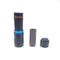 Wholesale Scuba Diving Lights Wholesale - Portable 2000LM XM-T6 LED Waterproof Torch Flashlight Light Scuba 100m Underwater Diving Flashlights 18650 26650 Battery