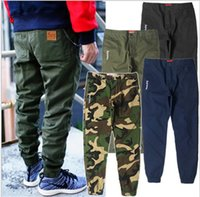 Wholesale Cargo Pants Capris Men - Wholesale-2016 New Fashion Brand Cargo Pants Camo Joggers Mens Calca Swag jeans Hiphop Chino Trousers Skateboard Streetwears