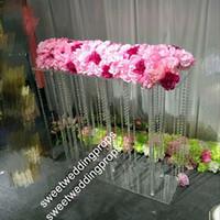 акриловые подставки для центральных частей оптовых-новые акриловые центральные, Кристалл свадебный цветок стенд Центральным цены на свадьбу декор украшение стола