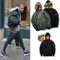 Wholesale Fur Collar Bomber Jacket - Newest Winter Jackets Coats Men Fur Collar Thick Warm Winter Ma1 Bomber Jackets Men Hip Hop Bombers Jacket