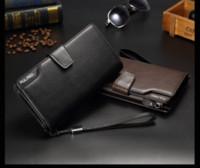 Wholesale Large Business Card Wallet - 2017 hot money high-quality men's wallet, business men long paragraph zipper multi-card large-capacity handbag wholesale free shipping