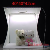 Wholesale Photographic Kit - 40CM Photo Studio Flash Diffusers Portable Mini Photography Kit Light Box Softbox Photographic with Backdrops photo light tent