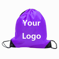 Wholesale Wholesale Customized Shopping Bags - Customize Drawstring Tote bags Logo print Advertising Backpack folding bags Marketing Promotion Gift shopping bags Screenprinting