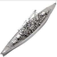 Wholesale 3D Metal Puzzle Bismarck Battleship USS Enterprise CVN Warship DIY D Laser Cut Assemble Models Toys For Audt
