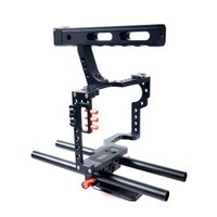 Câmera Mirrorless Rod Rig Camera Video Stabalizer Video Cage Kit Handle Grip para Sony A9 A7 A7II A7r A7s II A6500 A6300, Panasonic GH4 GH3