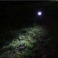 Wholesale Stainless Steel Solar Spotlight - Mini LED Solar Flood Lights 34cm 1LEDs Stainless Steel Spotlight Power Garden Path Lamps Outdoor Waterproof Stairway Home Yard Park Lighting