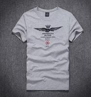 "Wholesale Air Force High White - HOT 2017 New summer Cotton AERONAUTICA MILITARE Air Force One T-shirt Embroidery Aeronautica "" Military"" Men Military T-shirt High quality"