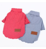 Wholesale Small Cotton Doggie Clothes - Sleeves for Puppy Doggie Summer Clothes Lovely and pretty Free shipping Dog T shirt Pet Cat 4-303
