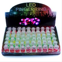 Wholesale led festival toys - LED Luminous Finger Ring Glow Diamond Rings Colorful Flash Light Rings For Children Adults Party Festival Toys Gifts Factory Free DHL 301