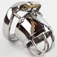 Wholesale Male Chastity Stainless Steel Ball - Male chastity stainless steel ball stretcher sex ring for men male chastity device chastity cage