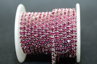 SS16 Crystal Strass Close Chain Trimmt coloful x 6 Meter Näh Zubehör