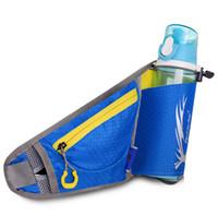 Wholesale Hiking Water Holder - Wholesale-Hot Travel Running Waist Belt Pack Bags Fitness Climbing Hiking Waist Bag Outdoor Water Bottle Holder Ride Sport Waist Pack