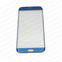Wholesale Glass Capacitive - 50PCS Original Front Outer Touch Screen Glass Lens Replacement for Samsung Galaxy S6 Edge Plus G9280 S7 edge G9300 free DHL