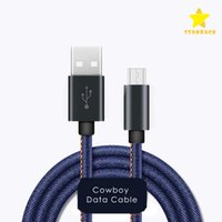 Wholesale Micro Usb Data Cable Retail - Byloly 3ft 5ft 6ft Durable Cowboy Braided Data Cable Micro USB Fast Charging for V8 Type C with Retail Packing.