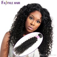 Vente en gros Fastyle Malais Kinky Deep Curly Extensions UNPROCESSED Mink Brésilien Péruvien Indian Virgin Hair Bundles 5pc / lot Cheap