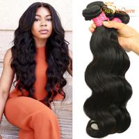 Wholesale Cheap 4bundles - Gaga Queen 8A Peruvian Virgin Hair Body Wave Dyeable Cheap Peruvian Brazilian Indian Malaysian Hair 100% Human Hair Weaves 4Bundles
