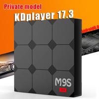 Wholesale V3 Tv - RK3229 M9S V3 Smart Android 6.0 TV Boxes Quad Core 1GB 8GB KDplayer 17.3 Installed 4K Internet Media Player Full loaded