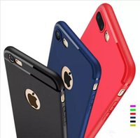Wholesale Dust Cover Phone - Slim Silicone Case for iphone 7 6 6s 5 5s Back Cover Candy Colors Soft 065mm TPU Matte frosted Phone Cases Shell with DUST CAP