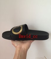 Wholesale Boy Slides - 2017 mens summer outdoor beach slide sandals double-ganciny fashion causal rubber slippers boys leisure flip flops wholesale