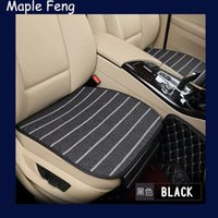Wholesale Luxury Seat Covers For Cars - Super luxury linen Car Seat Protector Mat Auto Front Seat Cushion Single Fit Most Vehicles Seat Covers For All Sedan,2pcs set