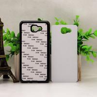 Wholesale Diy Iphone Cases - 2D DIY sublimation Heat press pc case for iphone 7 6 6S Plus Galaxy S7 edge J2 J7 J5 Prime P9 Lite Heat press Covers