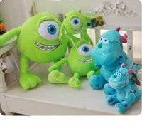 Wholesale Dolls University - Free shipping 20cm Monsters Inc Monsters University 1pcst Monster Mike Wazowski or James P. Sullivan plush toy for kids gift