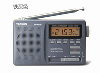 All'ingrosso-TECSUN DR-920C DISPLAY DIGITALE FM Mw SW Stereo orologio Multi 12 BAND RADIO ricevitore DR920C