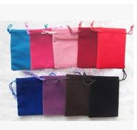 "Wholesale Small Velvet Jewelry Pouches - Small Velvet Gift Pouch 7x9cm (2.75""x3.5"") pack of 50 Earring Stud Ring Jewelry Drawstring Packaging Bag"