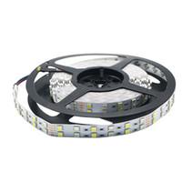 rgbw led light strips UK - RGBW SMD 5050 Double Row LED Strip 120LED M No Waterproof Magic Color Flexible LED Strip Light 5M Rolls