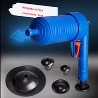 Wholesale Toilet Sink Plunger - High Pressure Air Drain Blaster Pump Plunger Sink Pipe Clog Remover Toilets Bathroom Kitchen Cleaner Kit