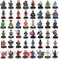 Wholesale Spiderman Toy Building - 96pcs lot Mix Order Super Heroes Minifig Avengers Spiderman Bat Ironman Hulk Superman Thor Antman Building Blocks Mini figure Toy