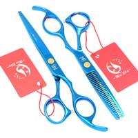 Wholesale Top Hair Shear Sets - 6.0Inch Meisha 2017 New Arrival Top Barber Hair Scissors Set Hair Cutting Shears Thinning Scissors Salon Hair Beauty Styling Tools, HA0091