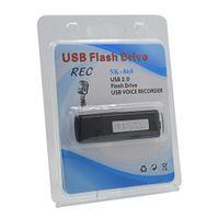 Wholesale Voice Activated Dictaphones - Wholesale- High Quality Digital 8GB USB Voice Recorder Mini Activated Audio Recorder Dictaphone Flas Pen Rechargable Gravador de voz Profes