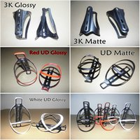 Wholesale Carbon Bottles Cages Bikes - Free shipping full carbon road bike carbon water bottle cages 3K UD Glossy Matte finish bicycle water bottle holders