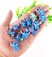 Wholesale Lilo Stitch Figures Set - 12pcs set Mini Anime Cartoon Lilo & Stitch PVC Action Figures Toys Dolls Child Toys Gifts