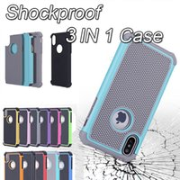 Wholesale iphone hard case - For iphone X Plus Hybrid Case Rugged Impact Rubber Matte Shockproof Heavy Hard Case for iphone s plus iphone7 plus