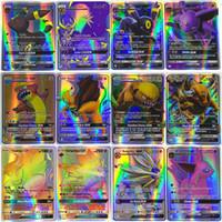 Wholesale pokemon trading card game - 100pcs set 60pcs set MANY styles GX EX poke cards English edition card toys