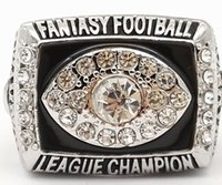 Wholesale Men fashion sports jewelry fantasy Football championship ring fans souvenir gift