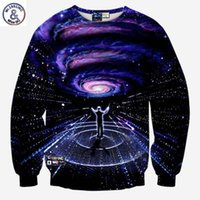 Wholesale Hops Direct - Hip Hop Fashion style Men's 3d sweatshirts print Musicians direct Symphony space whirl nebula galaxy hoodies pullover