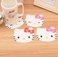 Wholesale Japan Maid - Wholesale- cheapest today!!! Silicone Coasters Cup Mat thermo Cushion Holder sea-maid coffee hello kitty