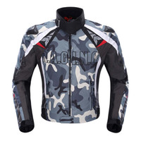 Wholesale Motorcycles Jackets Duhan - DUHAN Men's Oxford Cloth Motorcycle Jacket Windproof Motocross Off-Road Racing Jacket Guards Clothing With Five Protector Guards