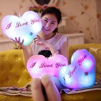 Wholesale Love Heart Shaped Pillows - Wholesale- Love Brinquedos Party Toys, Led Light Pillow,Plush Pillow, Heart Shaped ,Kids Toys, Birthday Gift
