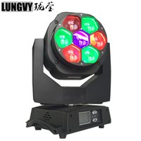 2017 Led Mini Head Light Head Moving Head Light 7x15W RGBW Luci Stage Professional 4-60 gradi Zoom DJ DMX Disco Light Wash Effect
