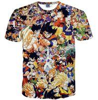 мультфильм символов футболки оптовых-3D T рубашки Новый стиль Мужчины / мальчик 3d футболка смешной печати Японский аниме персонаж бренд футболка летняя мультяшная майка tops tees