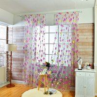 Floreale Tulle Voile Roma Tende per finestra Drape Panel Sheer Scarf Valances tulle curtains
