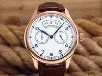 Wholesale Jaragar Quartz - hot selling men leather watch golden number quartz dive mens complete date automatic swiss leather male watches luxury sport jaragar free sh